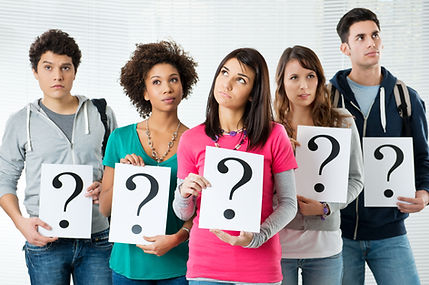 Students Holding Question Marks, What Ki