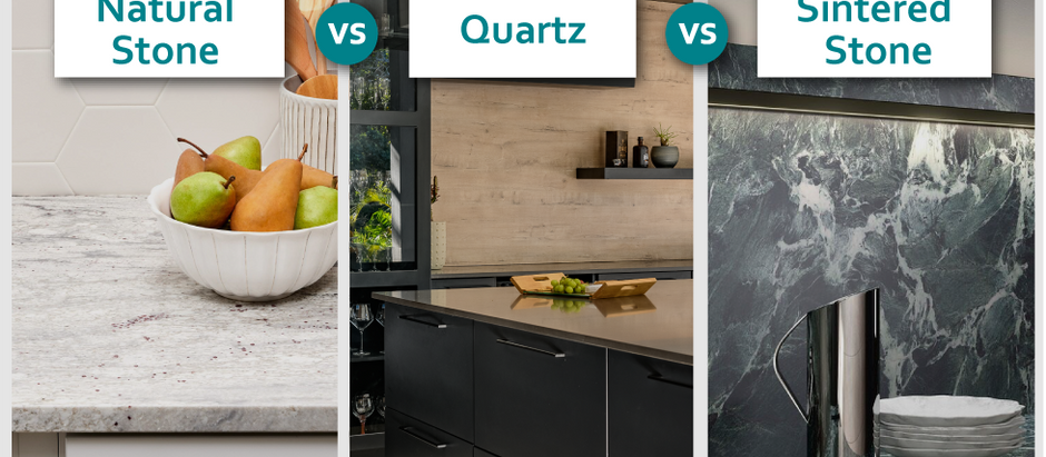 Natural Stone, Quartz and Sintered Stone? Oh my!