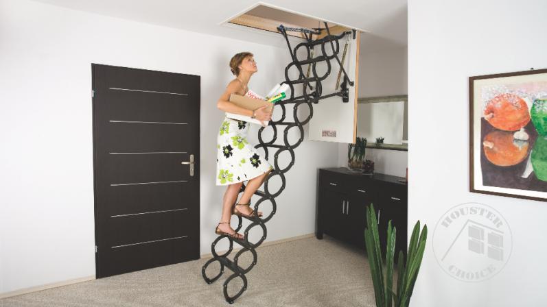 Scissor attic ladders