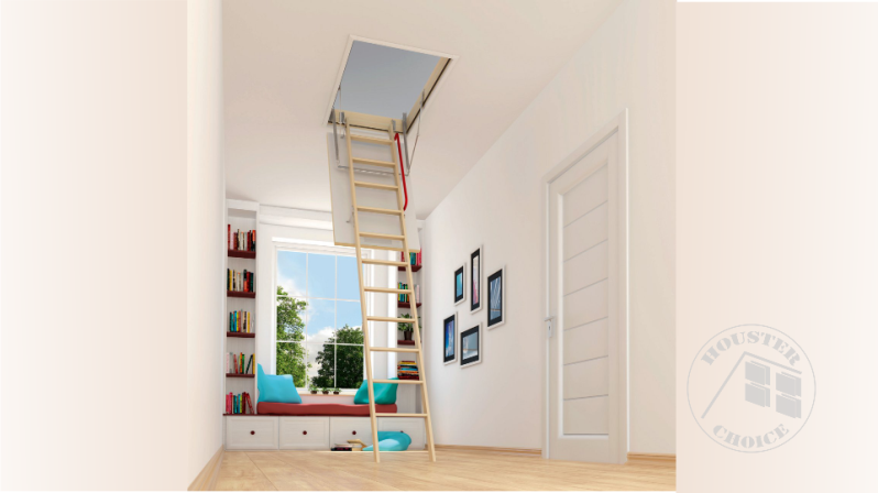 Wooden Folding attic ladders