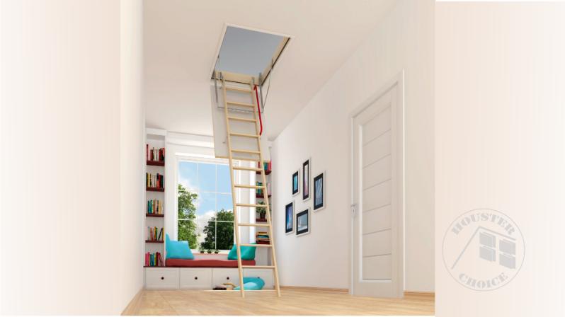 Wooden Folding attic ladders