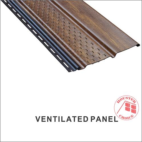 PVC SOFFIT VENTED PANEL (Color Wood Pattern)