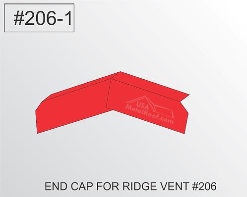 END CAP #206-1 for RIDGE VENT #206