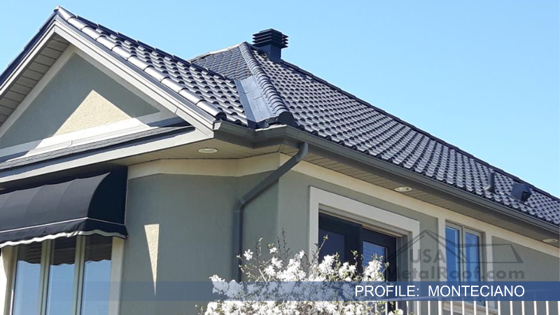 metal tile roofing Monteciano