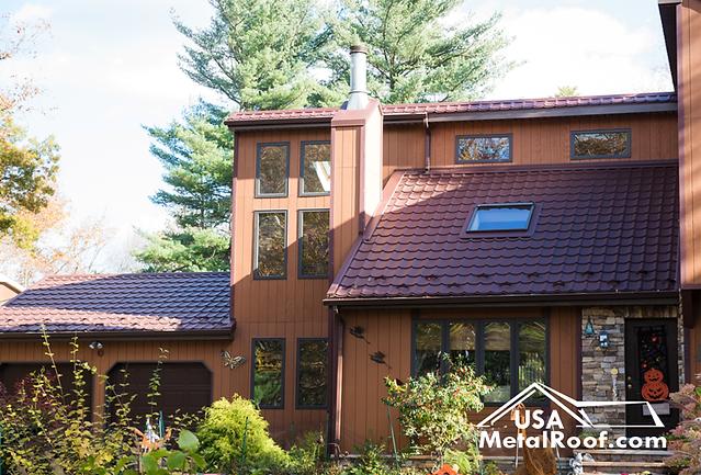 USA Metal Roof AMBER CHOCOLATE BROWN