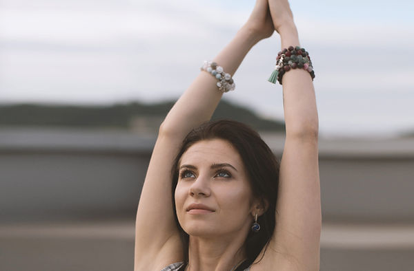 Woman healing with music