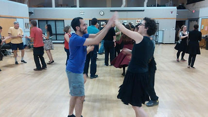 Princeton Country Dancers enjoy a contra dance
