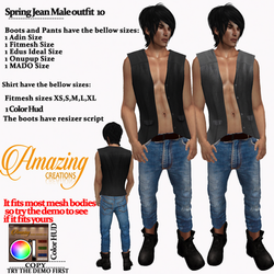 AmAzINg CrEaTiOnS Spring Jean Male outfi