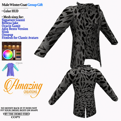 AmAzInG CrEaTiOnS Male Winter Coat Group