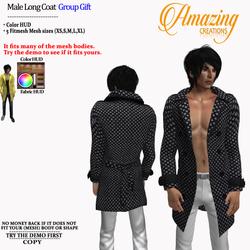 AmAzINg CrEaTiOnS Male Long Coat Group G