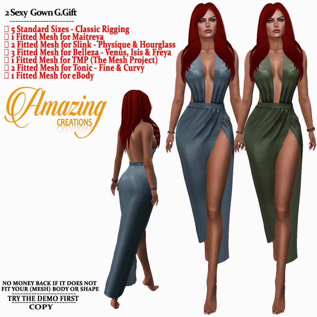 AmAzInG CrEaTiOnS 2 Sexy Gown G.Gift