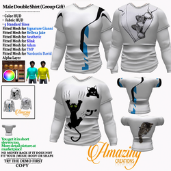 AmAzInG CrEaTiOnS Male Double Shirt (Gro