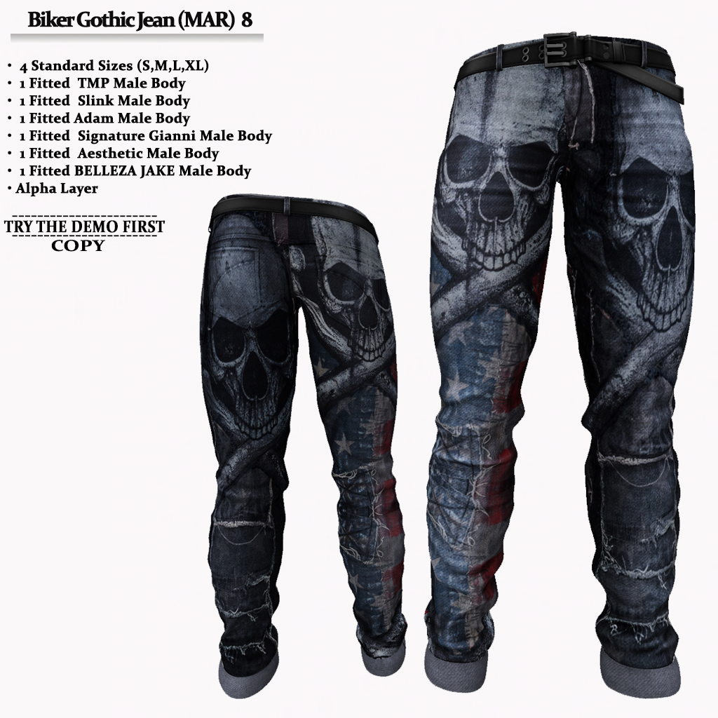 AmAzINg CrEaTiOnS Biker Gothic Jean (MAR