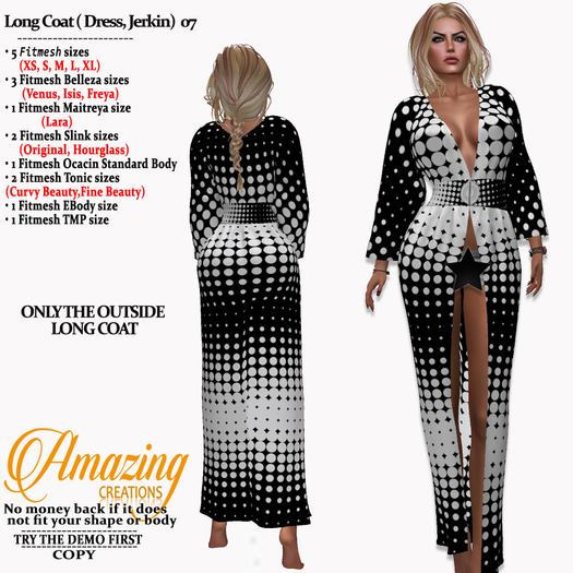 AmAzInG CrEaTiOnS Long Coat ( Dress, Jer