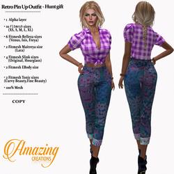 AmAzINg CrEaTiOnS Female Hunt Gift-Retro