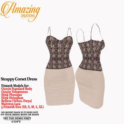 AmAzInG CrEaTiOnS Strappy Corset Dress .