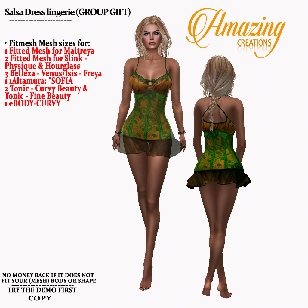 AmAzInG CrEaTiOnS Salsa Dress lingerie (