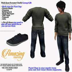 AmAzINg CrEaTiOnS Male Jean Sweater Outf