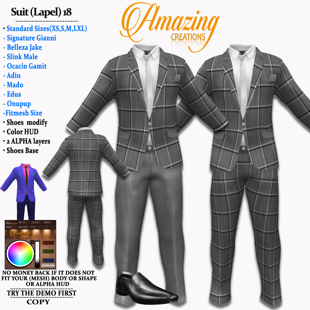 AmAzINg CrEaTiOnS Suit (Lapel) 18