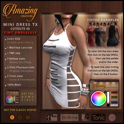 AmAzInNg CrEaTiOnS Mini Dress TX Cutouts