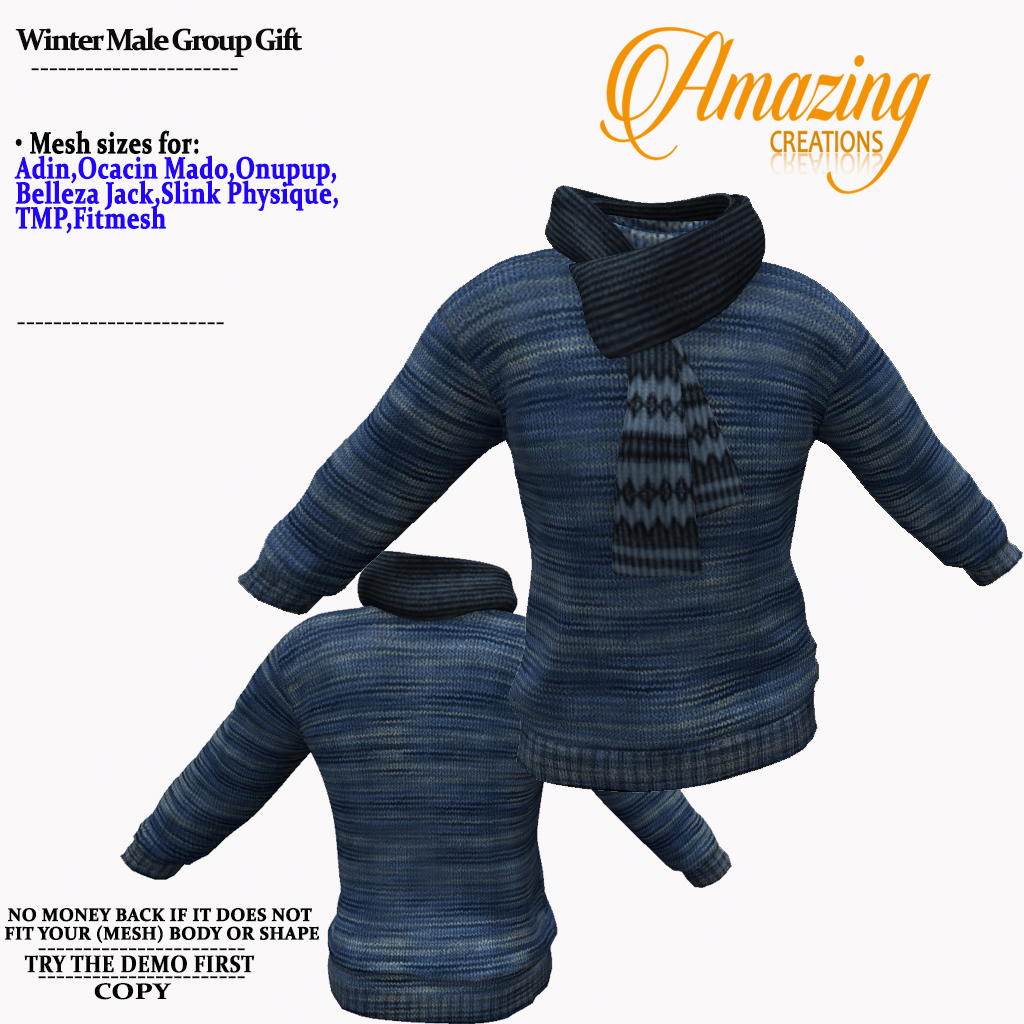 AmAzInG CrEaTiOnS Winter Male Group Gift