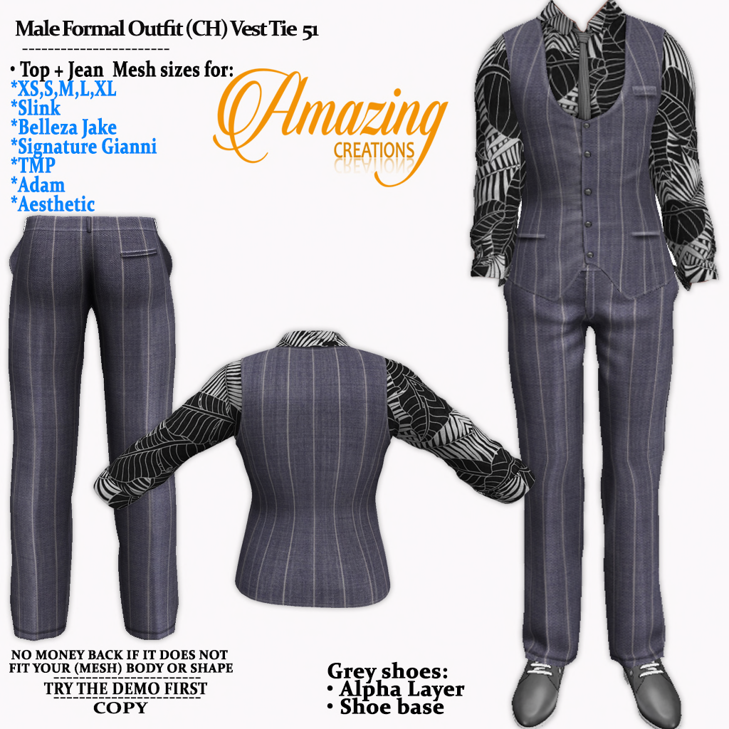 AmAzInG CrEaTiOnS Male Formal Outfit (CH