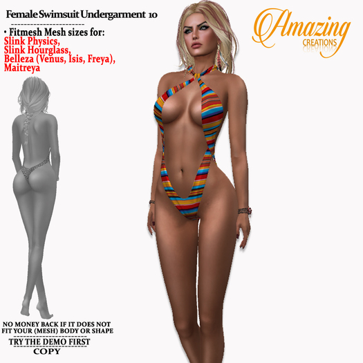 AmAzInG CrEaTiOnS Female Swimsuit Underg