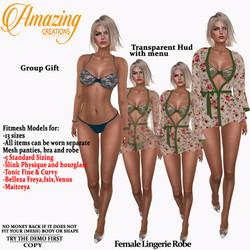 AmAzInG CrEaTiOnS Female Lingerie Robe G