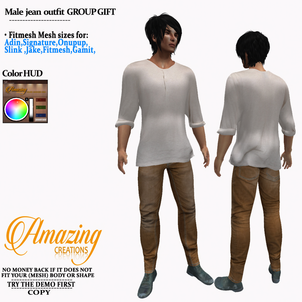 AmAzInG CrEaTiOnS Male jean outfit GROUP