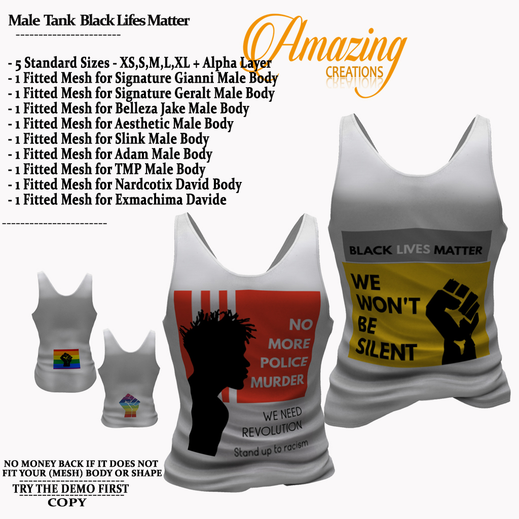 AmAzINg CrEaTiOnS Male  Tank  Black Life