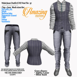 AmAzInG CrEaTiOnS Male Jean Outfit (CH)