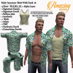 Male  Summer  Shirt With Tank 16