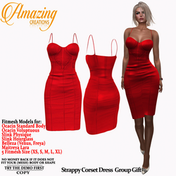 AmAzInG CrEaTiOnS Strappy Corset Dress G