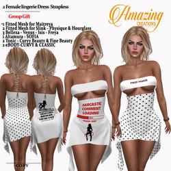 AmAzINg CrEaTiOnS Female lingerie Dress