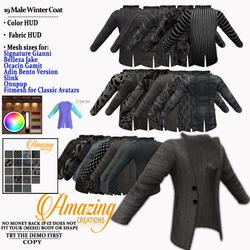AmAzInG CrEaTiOnS 19 Male Winter Coat