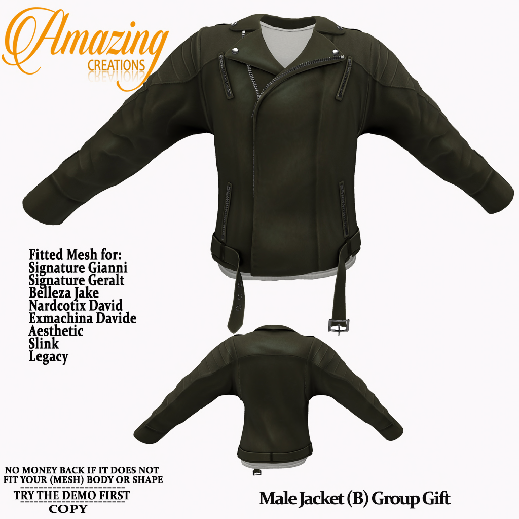 AmAzInG CrEaTiOnS Male Jacket (B) Group