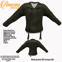 AmAzInG CrEaTiOnS Male Jacket (B) Group