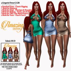 AmAzInG CrEaTiOnS 3 Lingerie Dress G