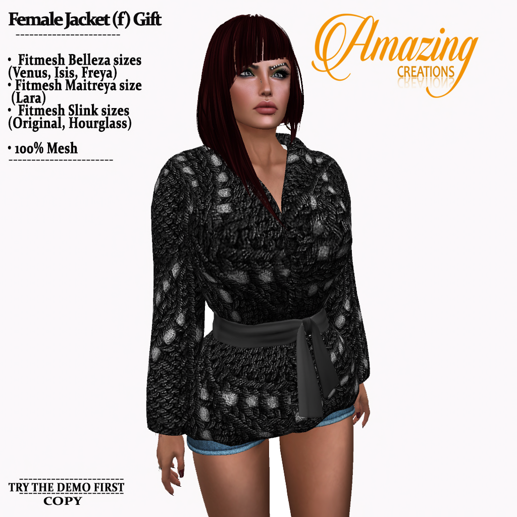 AmAzINg CrEaTiOnS Female Jacket (f) Grou