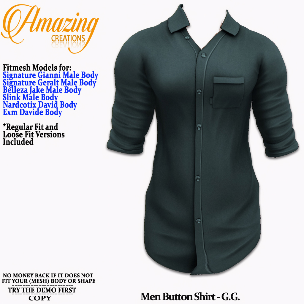 AmAzInG CrEaTiOnS Men Button Shirt Teal