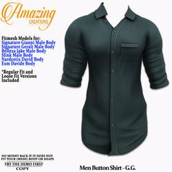AmAzInG CrEaTiOnS Men Button Shirt Teal