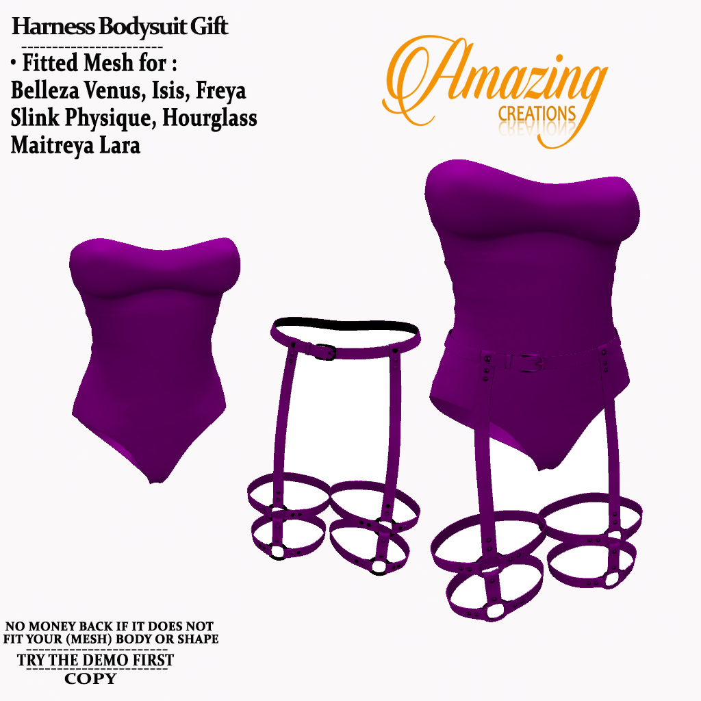 AmAzInG CrEaTiOnS Female Harness Bodysui
