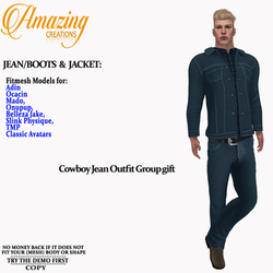 AmAzInG CrEaTiOnS Cowboy Jean Outfit Gro