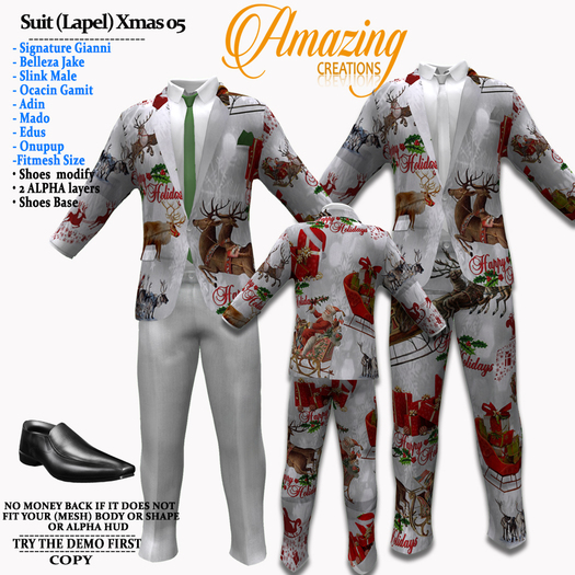 AmAzInG CrEaTiOnS Xmas Men Suit Outfits