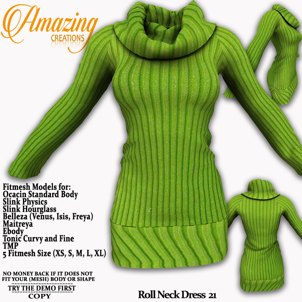 AmAzInG CrEaTiOnS Roll Neck Dress 21