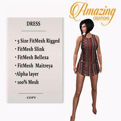 AmAzInG CrEaTiOnS Sleeveless Tank Dress