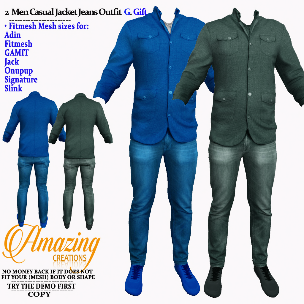 AmAzInG CrEaTiOnS 2 Men Casual Jacket Je