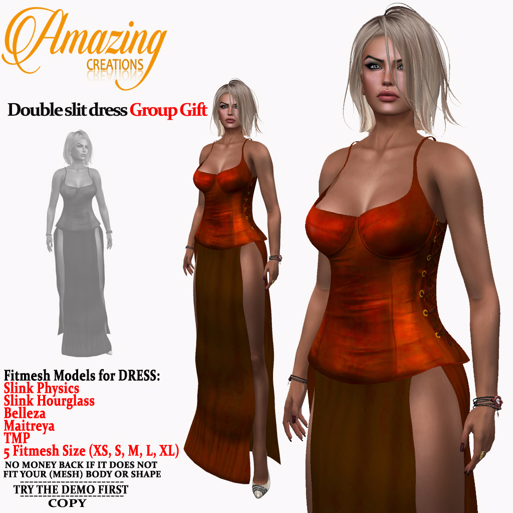 AmAzInG CrEaTiOnS Double slit dress Grou