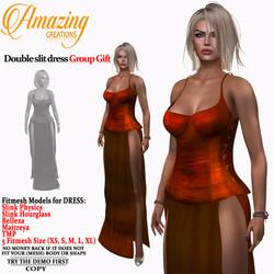 AmAzInG CrEaTiOnS Double slit dress Grou
