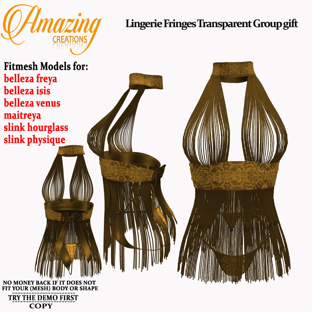 AmAzInG CrEaTiOnS Lingerie Fringes Trans